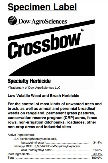 how to use crossbow herbicide