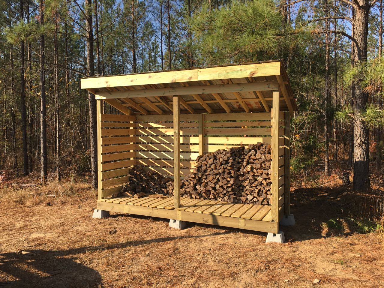 Fire wood shed deer hunter forum for Wood shed plans